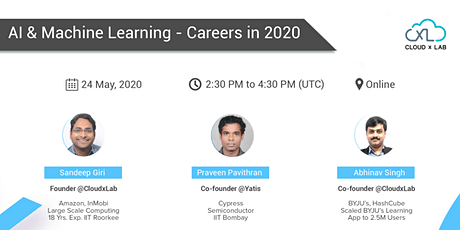 Free Online Webinar on AI & Machine Learning - Careers in 2020 | Live Instructor-led Session tickets