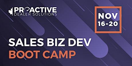 November - Canadian Biz Dev Boot Camp Sales tickets
