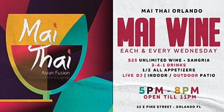 MAI WINE | UNLIMITED WINE EVERY WEDNESDAY tickets