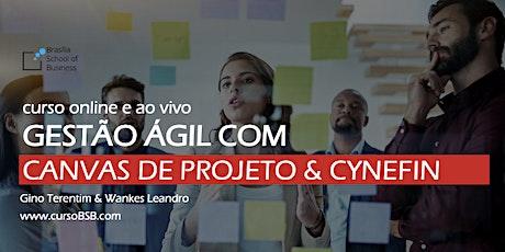 Gestão Ágil com Canvas de Projeto & Cynefin - Gino Terentim & Wankes Leandro [online e ao vivo] bilhetes