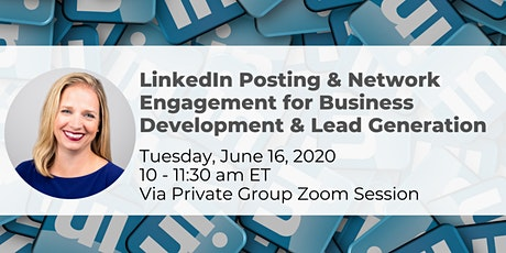 LinkedIn Posting & Network Engagement for Business Development & Lead Generation 6/16 tickets