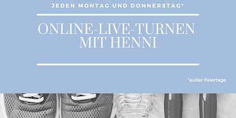 Online-Live-Turnen mit Henni Tickets
