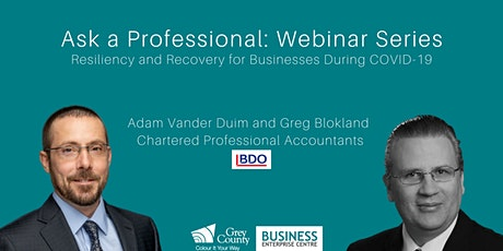 Ask a Professional Webinar Series (Accountant) tickets