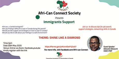 Afri-Can Connect Immigrant Support tickets