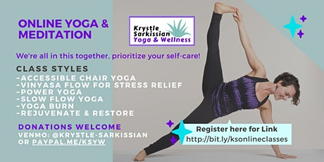 Krystle's Livestream, Chair Yoga (Monday, Tuesday & Wednesday afternoons) tickets