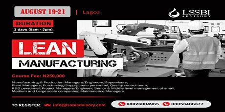 Lean Manufacturing tickets
