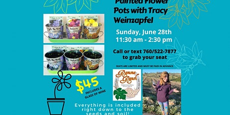 Painted Flower Pots Class at Ramona Ranch Winery tickets