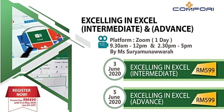 Online Version: Excelling In Excel (Intermediate) & (Advance) tickets