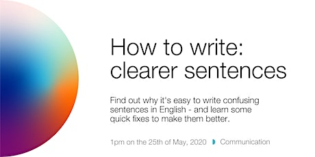 How to write: clearer sentences tickets