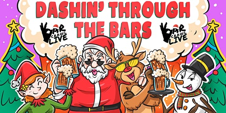Dashin' Through The Bars Holiday Crawl | Detroit, MA - Bar Crawl Live tickets