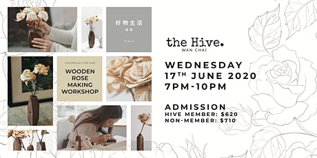 Colorplay X the Hive Wooden Rose Making Workshop billets