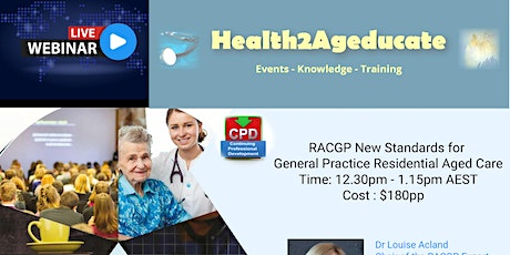 RACGP 2020 Standards for General Practice Residential Aged Care  tickets