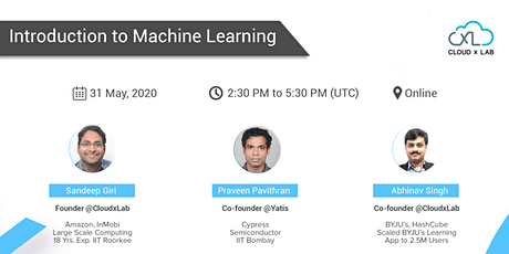 Online Webinar on Introduction to Machine Learning   Live Instructor-led Session tickets
