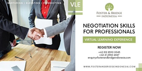 Virtual Learning Experience Negotiation Skills For All Professionals tickets