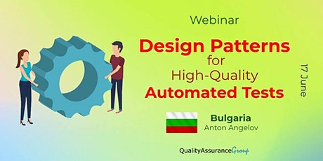 Webinar: Design Patterns for High-Quality Automated Tests tickets