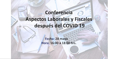 Conferencia Aspectos Laborales y Fiscales después del COVID 19 boletos