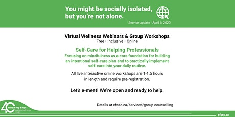 Self-Care for Helping Professionals tickets