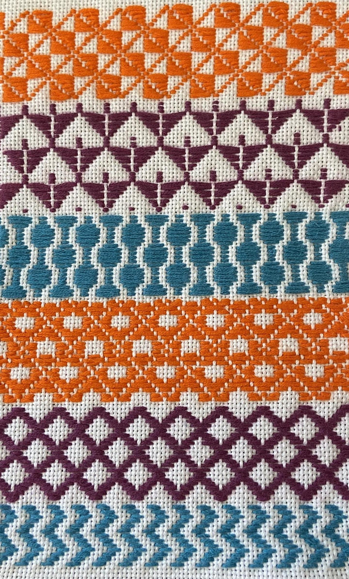 Kogin counted thread Sashiko embroidery (Online event) image