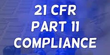 21 CFR Part 11, SaaS/Cloud, EU GDPR  Webinar  tickets