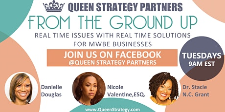 From the Ground Up; Real Time Issues with Real Time Solutions for MWBE Businesses tickets