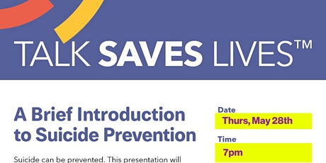 A Brief Introduction to Suicide Prevention - Online Webinar tickets