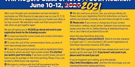 Will Rogers 50th Reunion Notice entradas