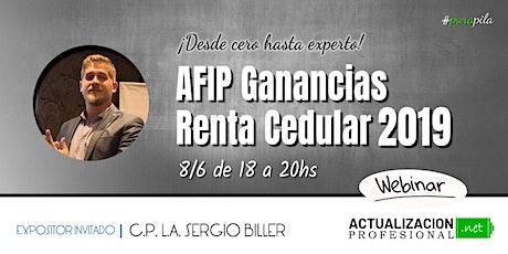 """""""AFIP Gcias Renta Finan., Dividendos e Inmueb 19"""" Desde cero a experto! boletos"""