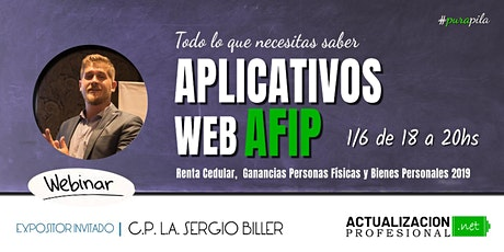 Aplicativos WEB AFIP Renta Cedular, Ganancias PFísicas y Bs Personales 19 entradas