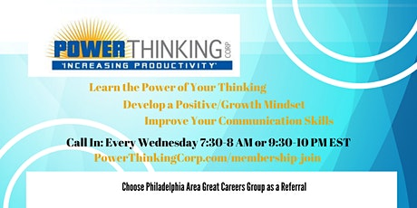 CALL IN > PowerThinking: Weekly Resilience Building Calls tickets