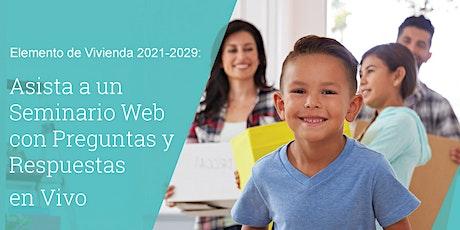Housing Element Webinar - SPANISH entradas