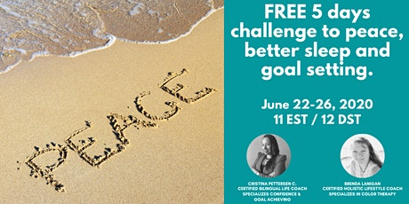 5 days challenge to peace, better sleep and goal setting. tickets