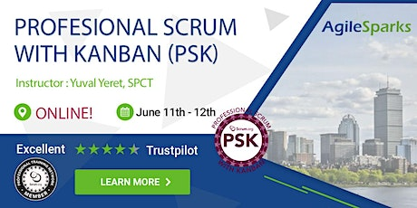 {Guaranteed to run} Scrum.org Professional Scrum with Kanban (PSK) - EST Timezone - Remote Virtual Classroom - June 2020 tickets