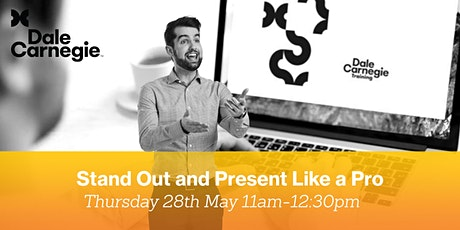 """Dale Carnegie - """"Stand Out and Present Like a Pro"""" Live Online Workshop tickets"""