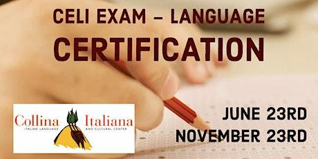 Italian Language Certification - CELI tickets
