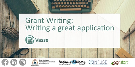 Grant writing: Writing a great application tickets