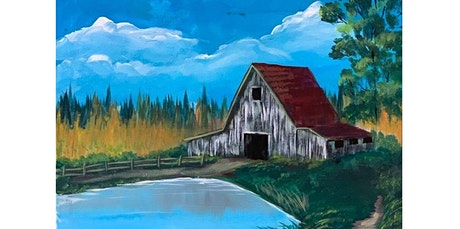 ONLINE Painting Class: Rural Barn painting, Bob Ross Style! (06-09-2020 starts at 6:30 PM) tickets