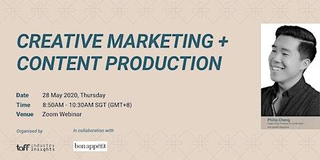 TaFF Webinar: Creative Marketing + Content Production tickets