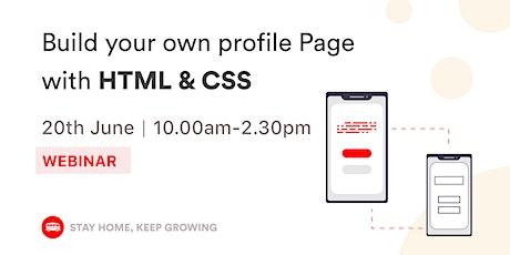 [WEBINAR] HTML & CSS for Beginners tickets
