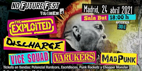 No Future Fest Vol. 4. The Exploited, Discharge, Vice Squad, Varukers entradas