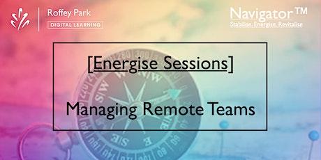 Navigator™[Managing Remote Teams] M1 - Managing Meetings tickets