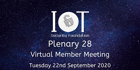 IoTSF Plenary 28 tickets