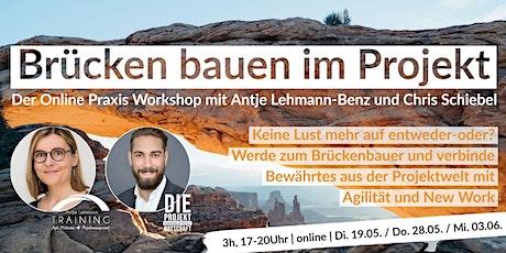Praxis Workshop - Wie Du Projekte und Agilität verbindest - 3h Tickets