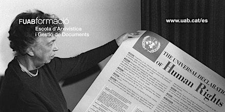 Sesión info online: Curso Archivos de los Derechos Humanos, Género y Divers entradas