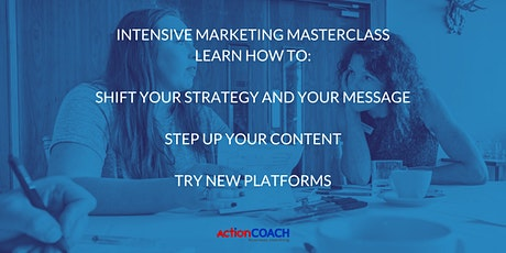 Intensive Marketing Masterclass to Thrive in Adverse Times tickets