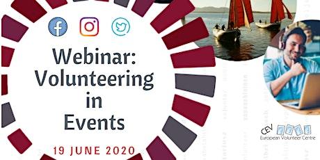 Webinar: Volunteering in Events tickets