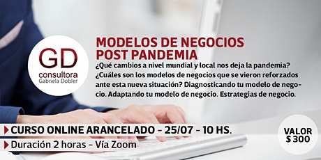 Modelos de negocios post pandemia - Capacitación online bilhetes