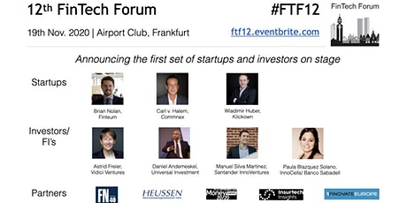 12th FinTech Forum | 19th Nov. 2019  Tickets