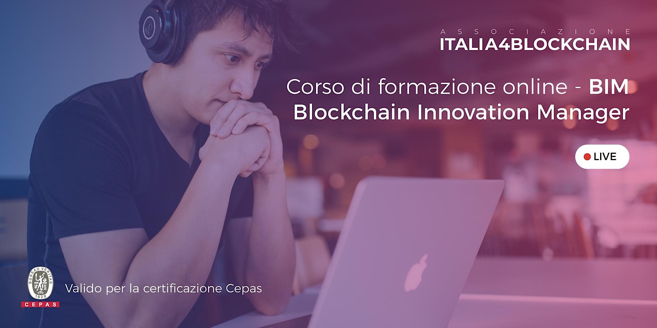CORSO BLOCKCHAIN INNOVATION MANAGER - Digital Edition - 1° Lezione
