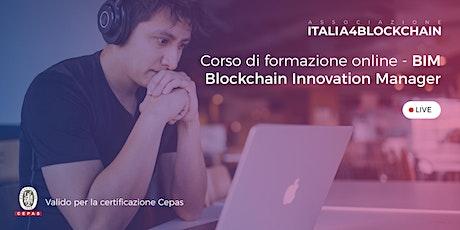 CORSO BLOCKCHAIN INNOVATION MANAGER - Digital Edition - 1° Lezione biglietti
