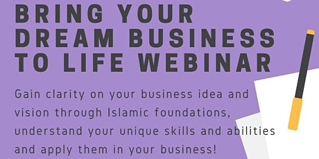 Bring Your Dream Business To Life tickets